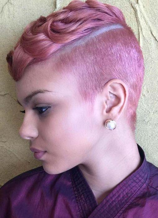Розовые бритые