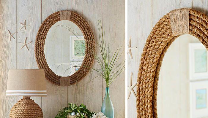 Рама для зеркала из верёвки
