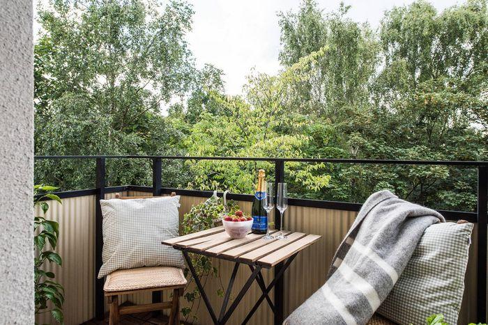 Маленький стильный балкон