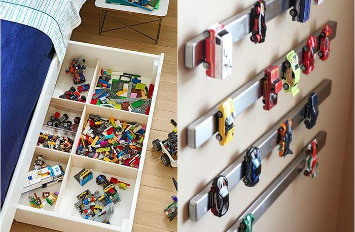 Куда убрать детские игрушки: 10 идей, которые помогут молодым мамам