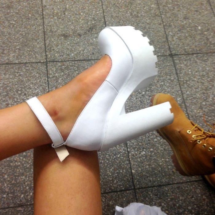 Модные туфли на тракторной подошве