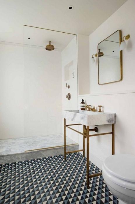 Стильный пол в ванной