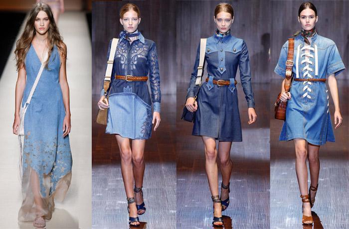 Модные джинсовые платья 2015