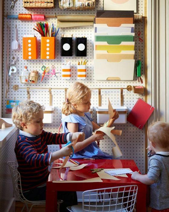 4. Хорошо организованный уголок для творчества