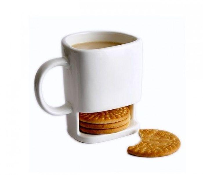 Кружка с отделением для печенья