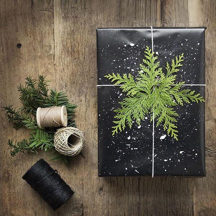 Зимний декор подарков
