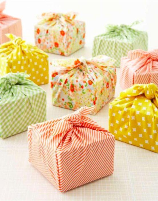 Текстильная упаковка для подарков