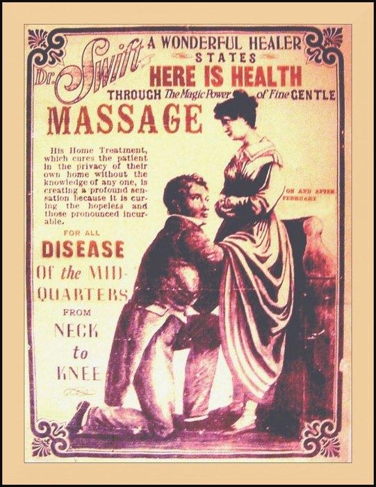 В 19-м веке было в  порядке вещей посещать доктора-массажиста