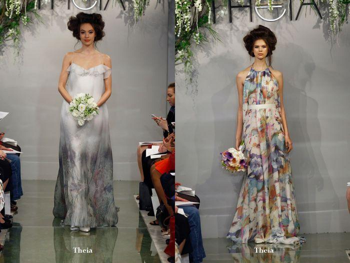 Цветные свадебные платья 2016