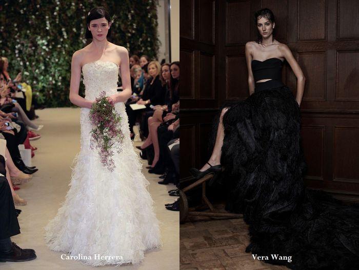 Свадебные платья с перьями