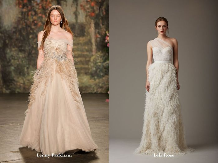 Очень эффектные свадебные платья