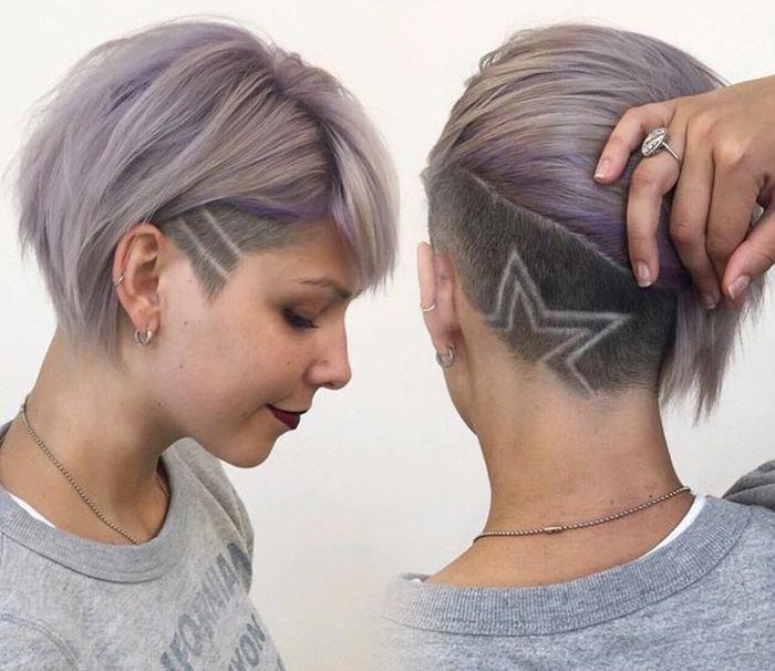 женские рисунки на голове фото