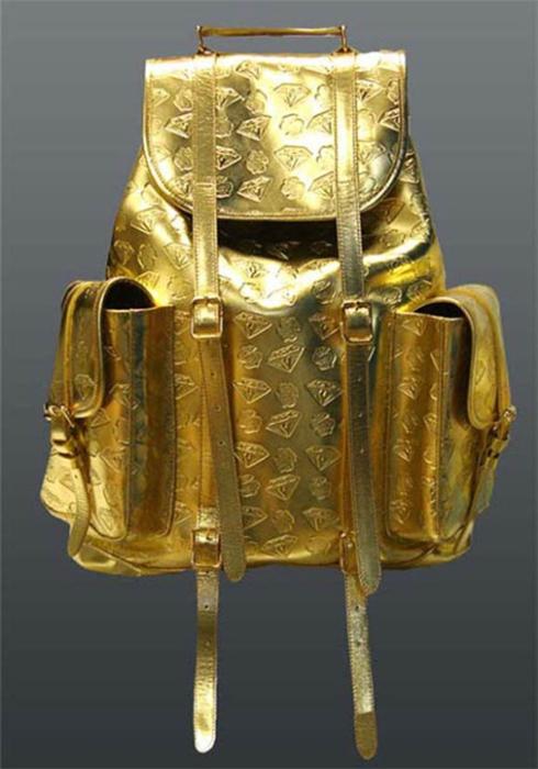 Золотой рюкзак Billionaire Boys Club