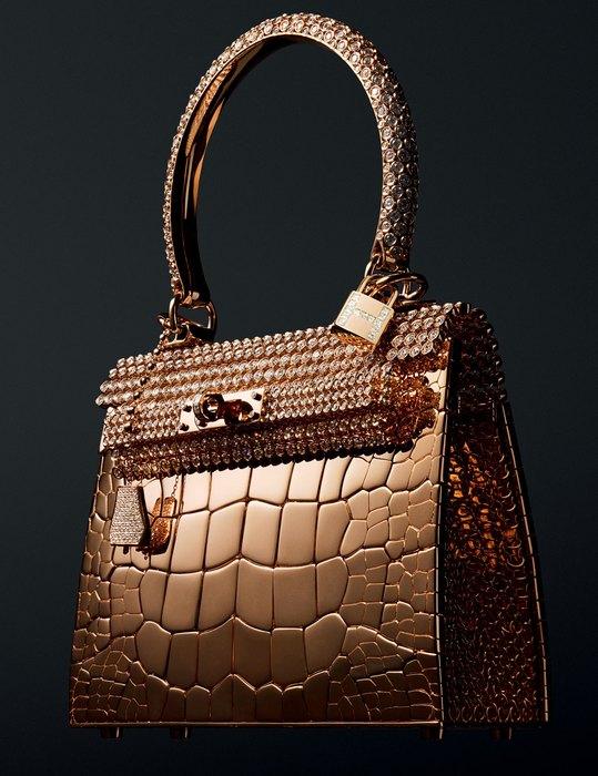 Золотая сумочка Hermes