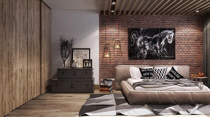 Лофт в кофейном цвете - интересный вариант для оформления дизайна комнаты.