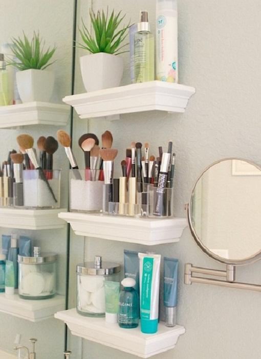 Отличное решение удачно сэкономить полезную площадь в ванной комнате.