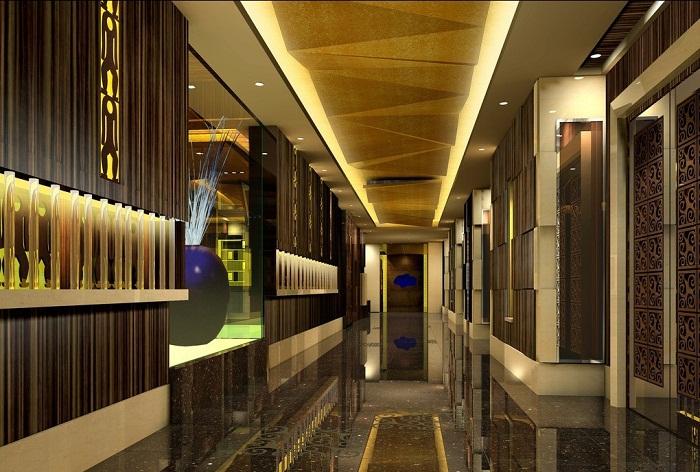 Красивый вариант оформления потолка в светящимся оформлении, который понравится точно.
