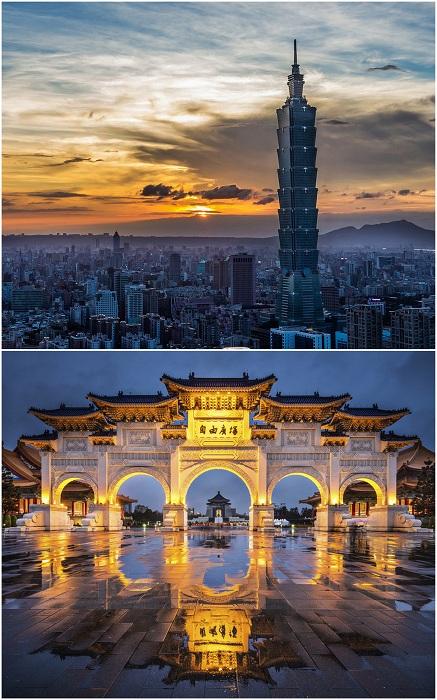 Тайбэй - столица Тайваня, один из самых густонаселенных городов мира, шумный и фееричный. Он довольно молод, однако любители экзотической архитектуры могут полюбоваться здесь изящными храмами в классическом китайском стиле.