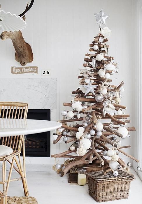 Интересный интерьер комнаты, подарит по-настоящему новогоднюю сказку.