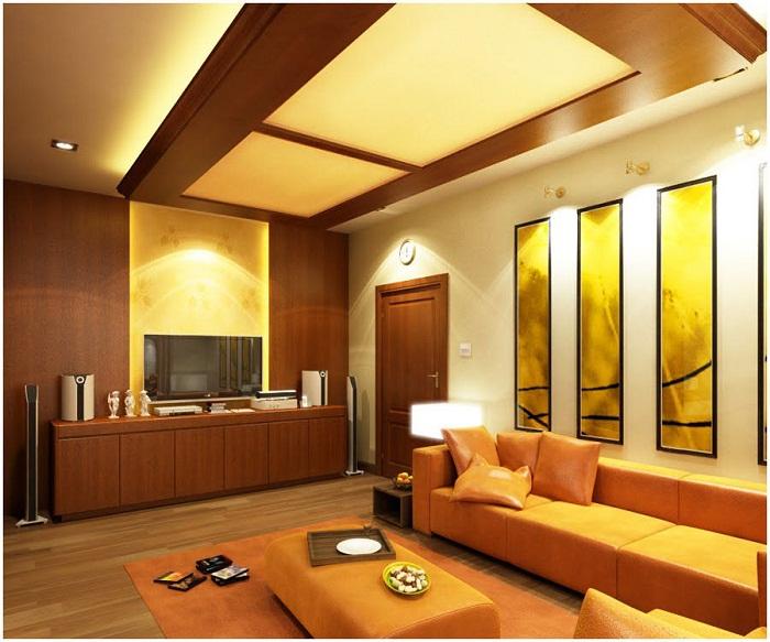 Очень красивая подсветка на потолке просто и отлично впишется в любой интерьер и создаст теплую атмосферу.