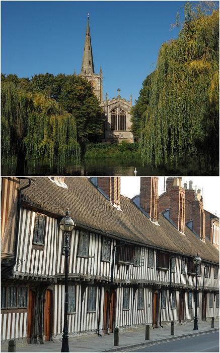 Стратфорд-на-Эйвоне является одним из самых посещаемых туристических мест графства Уилкшир в Англии. Основной достопримечательностью Стратфорда-на-Эйвоне является Шекспировский центр, который размещен в доме, где жил великий драматург.