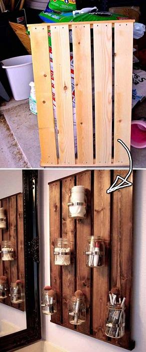 Удобные навесные ячейки для хранения нужных вещиц, украсят любую стену дома.