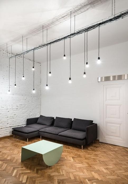 Безупречная и простая подсветка, что станет особенностью для любого интерьера.
