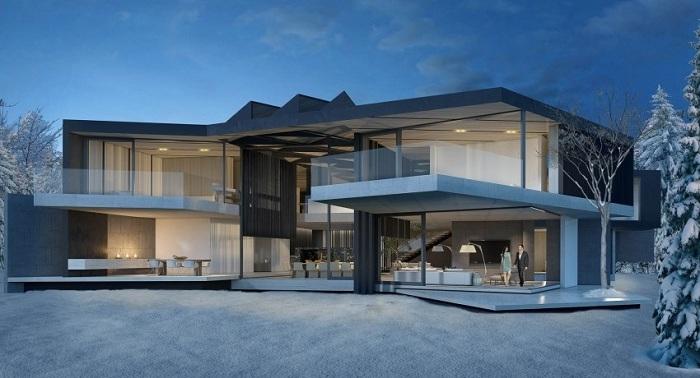 Современный семейный дом был разработан студией SAOTA.