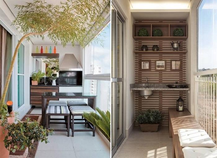 Отличные дизайнерские решения по преображению балконов.