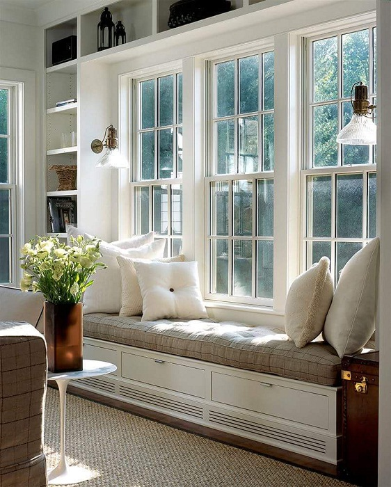 Крутое решение для преображения пространства с помощью комфортного диванчика.