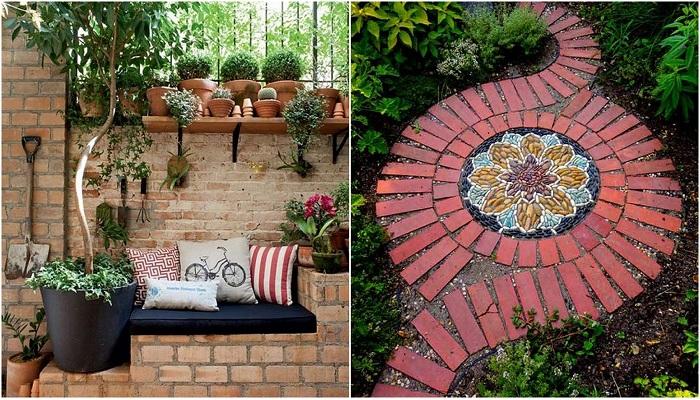 Интересные постройки из кирпича, которые украсят любой сад или территорию около дома.