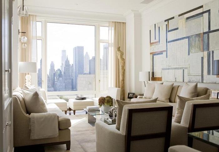Эта небольшая гостиная является лучшим примером того, как пространство может стать произведением искусства.