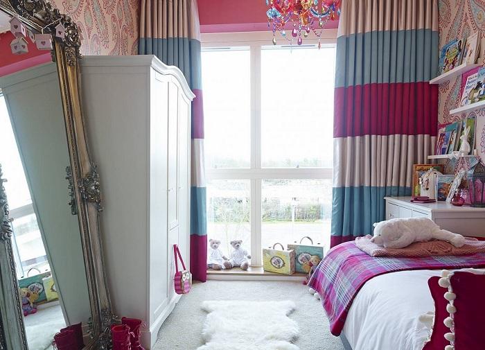 Симпатичный интерьер спальной станет крутым решением для преображения такой комнаты.
