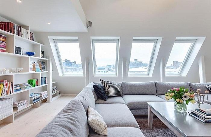 Потрясающий интерьер гостиной, что вписывается в интерьер и станет по истине находкой и лучшим решением.