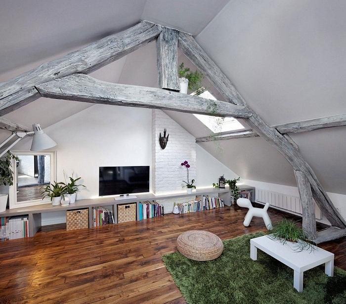 Стоит разместить комнату для отдыха в самом укромном месте дома, например, под чердаком.