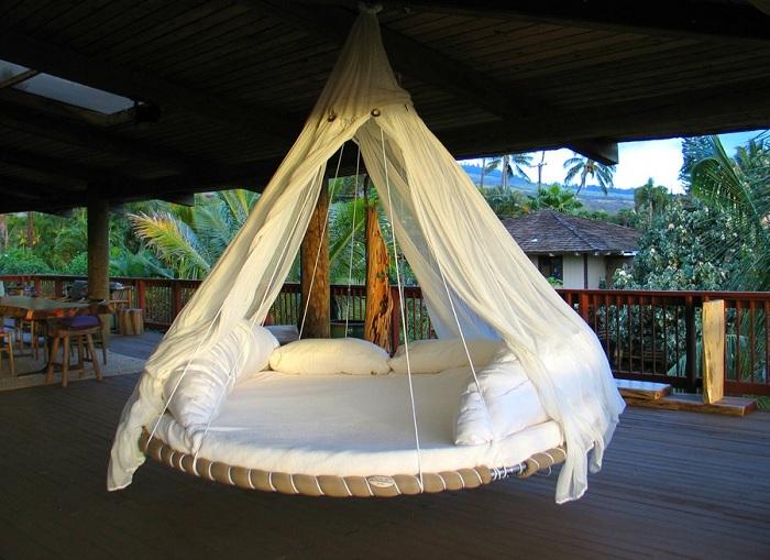 Удивительный дизайн круглой кровати, которая создана для незабываемого отдыха.