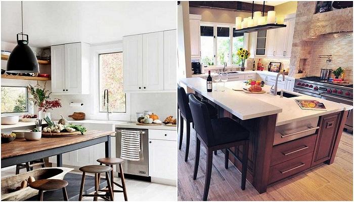 Красивые варианты оформления кухонь.