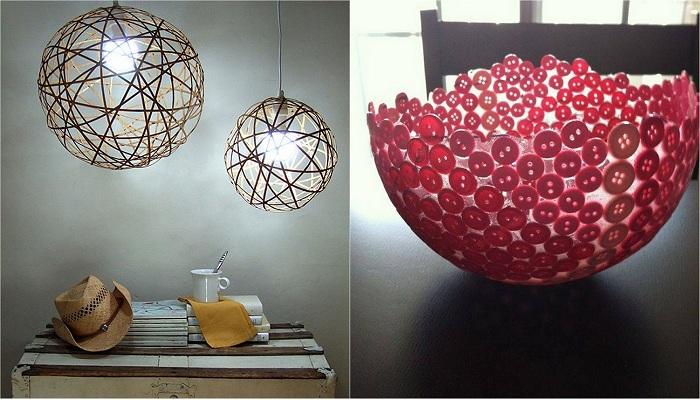 Отличные варианты создания интересных предметов быта из обычных шариков.