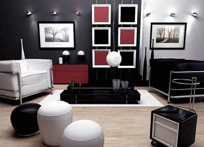 Простые дизайнерские эксперименты для небольшой гостиной, могут послужить началом создания уникального интерьера.