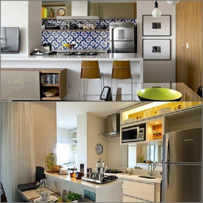Красивые примеры декорирования мини-кухни, что точно понравятся.