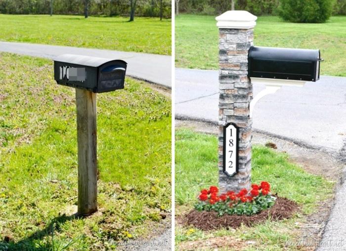 Прекрасный вариант оформления почтово ящика, что привлечет особенное внимание.