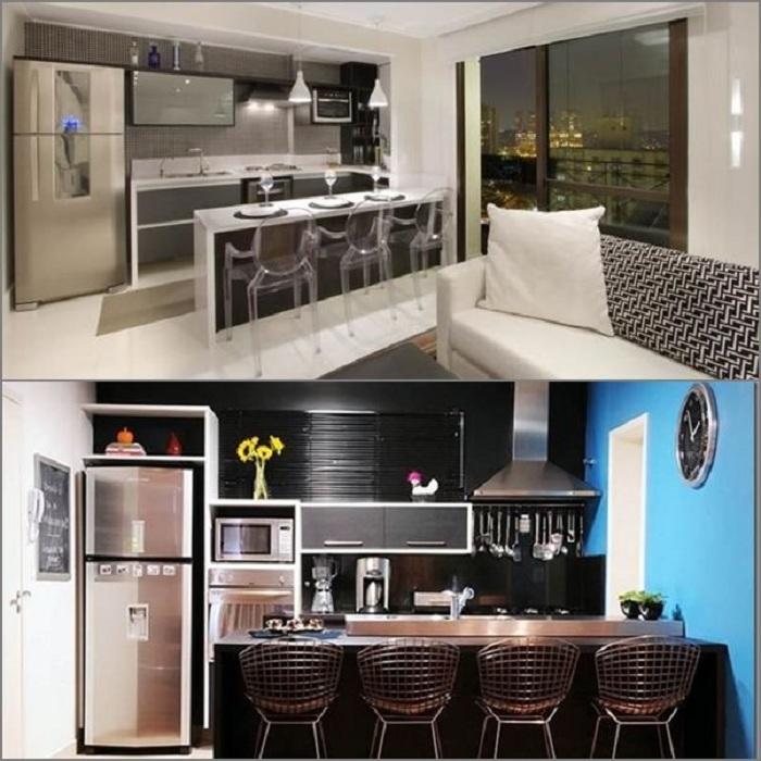 Крутые идеи для декорирования мини-кухонь, что сэкономят полезную площадь в доме.
