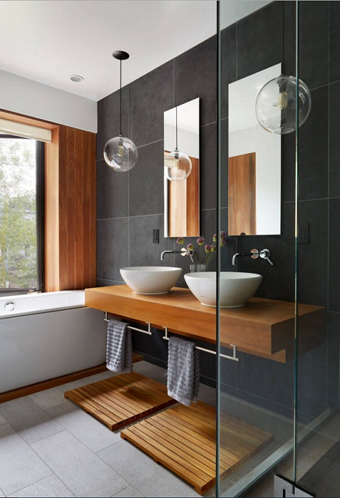 Ванная комната, которая станет просто хорошим вариантом для большой семьи.