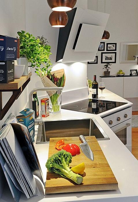 Оформление кухни в светлых тонах, что точно понравится и преобразит этот современный интерьер.