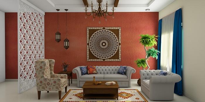 Гарненький варіант для створення цікавого дизайну в будинку за допомогою незвичайної ажурною перегородки.