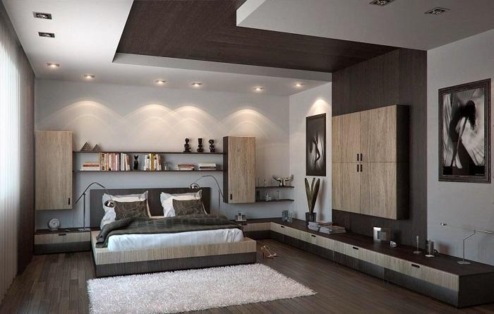 Необычный потолок, который позволит оптимизировать пространство и украсит общий интерьер любой комнаты.