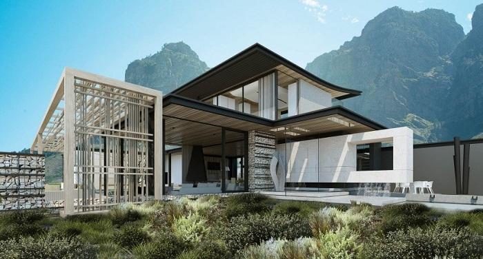 Совокупность жилых помещений, идеально вписанных в окрестный южноафриканский ландшафт.