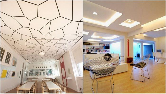 Варианты оформления потолка, которые очаруют.