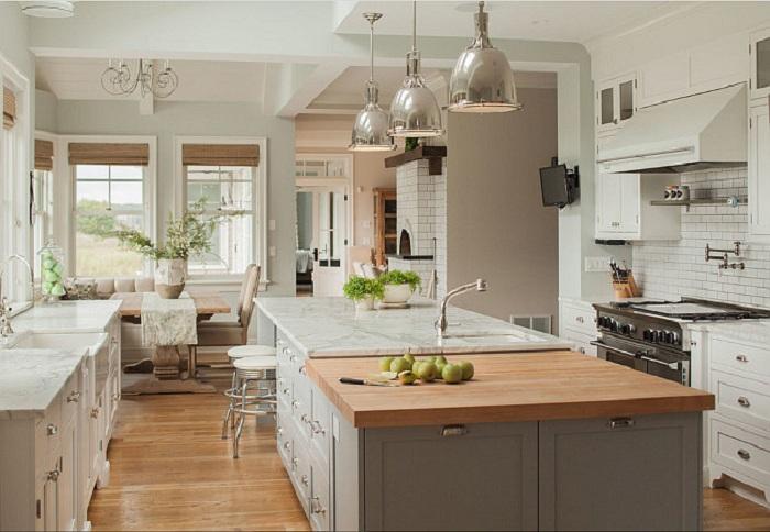 Один из неплохих вариантов создать максимально уютную атмосферу в кухни при помощи правильной подборки цветовой гаммы.