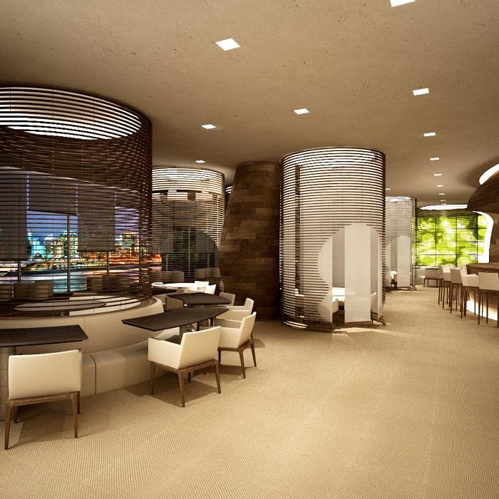Оригінальний варіант оформлення кімнати за допомогою симпатичною перегородки.